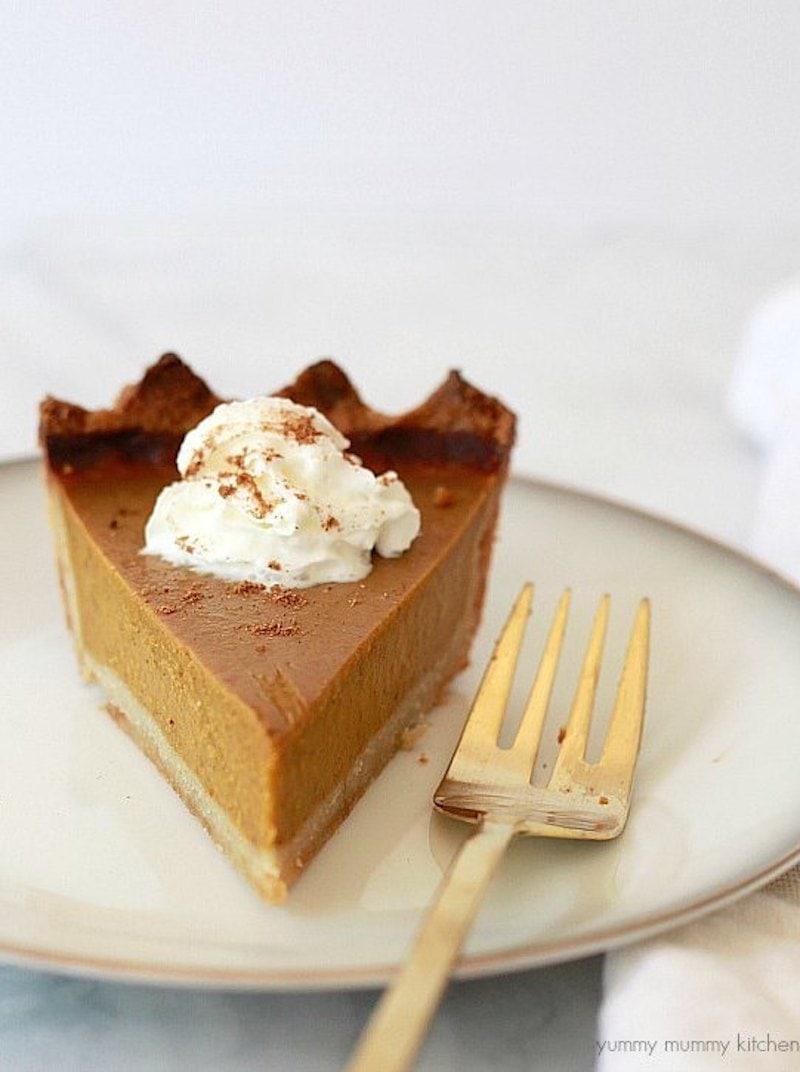 9 Drool-worthy Gluten Free, Dairy Free Pumpkin Pie Recipes -Vegan Pumpkin Pie from Yummy Mummy Kitchen