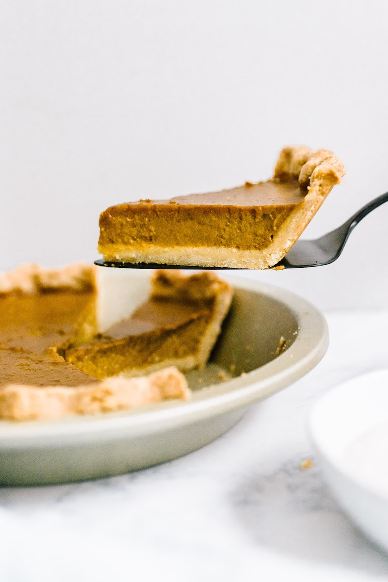 9 Drool-worthy Gluten Free, Dairy Free Pumpkin Pie Recipes - Pumpkin Pie with Almond Flour Crust from Nourished by Nutrition