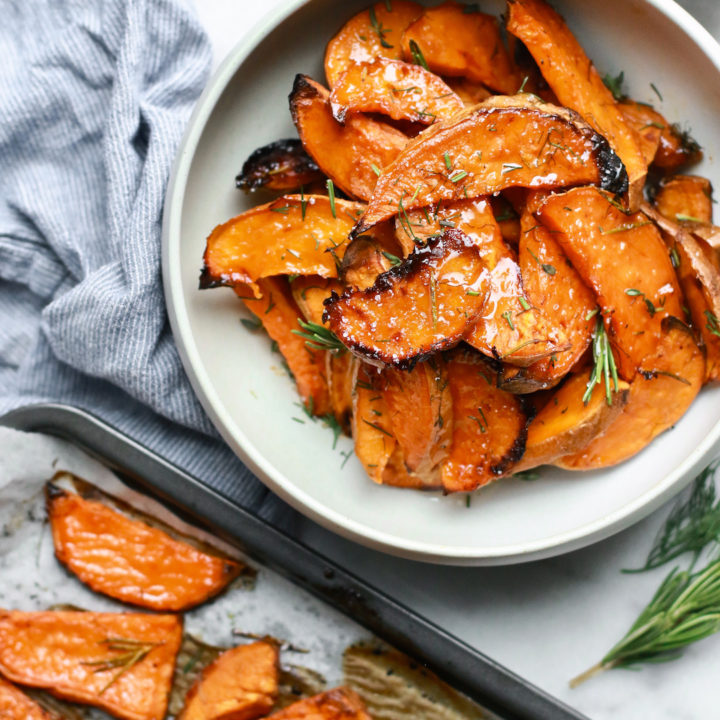 Honey-Roasted Sweet Potato Wedges