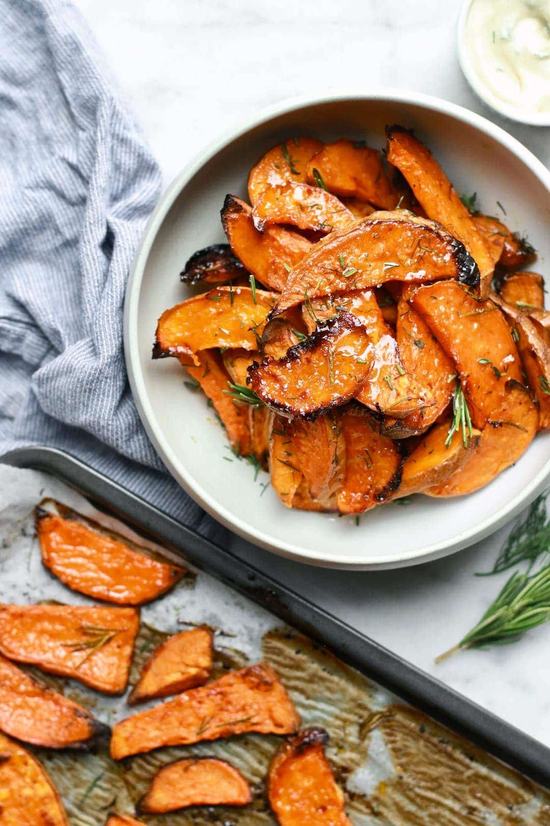 Gluten Free Honey-Roasted Sweet Potato Wedges