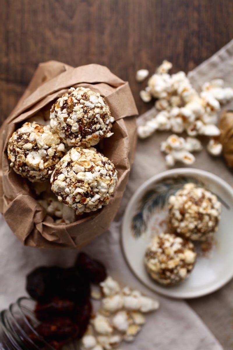 18 Healthy Gluten Free Halloween Treats - Sweet & Salty Popcorn Balls