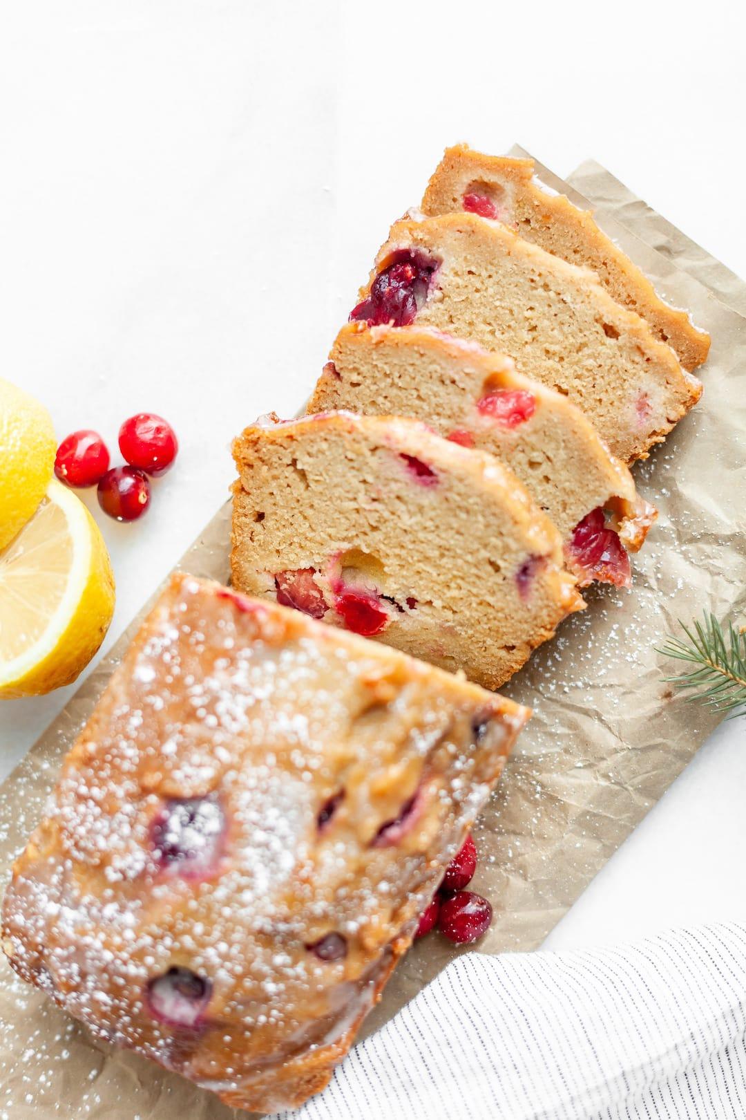 Must-Make Healthy Cranberry Lemon Loaf Pound Cake