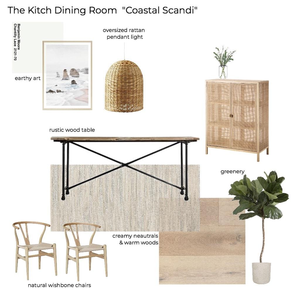 'The Kitch' Kitchen Remodel Pt 1: The Design - Coastal Scandinavian Dining Room Mood Board