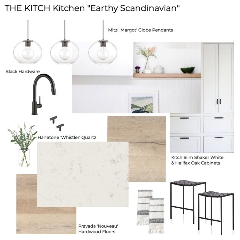 'The Kitch' Kitchen Remodel Pt 1: The Design - Earthy Scandinavian Kitchen Mood Board