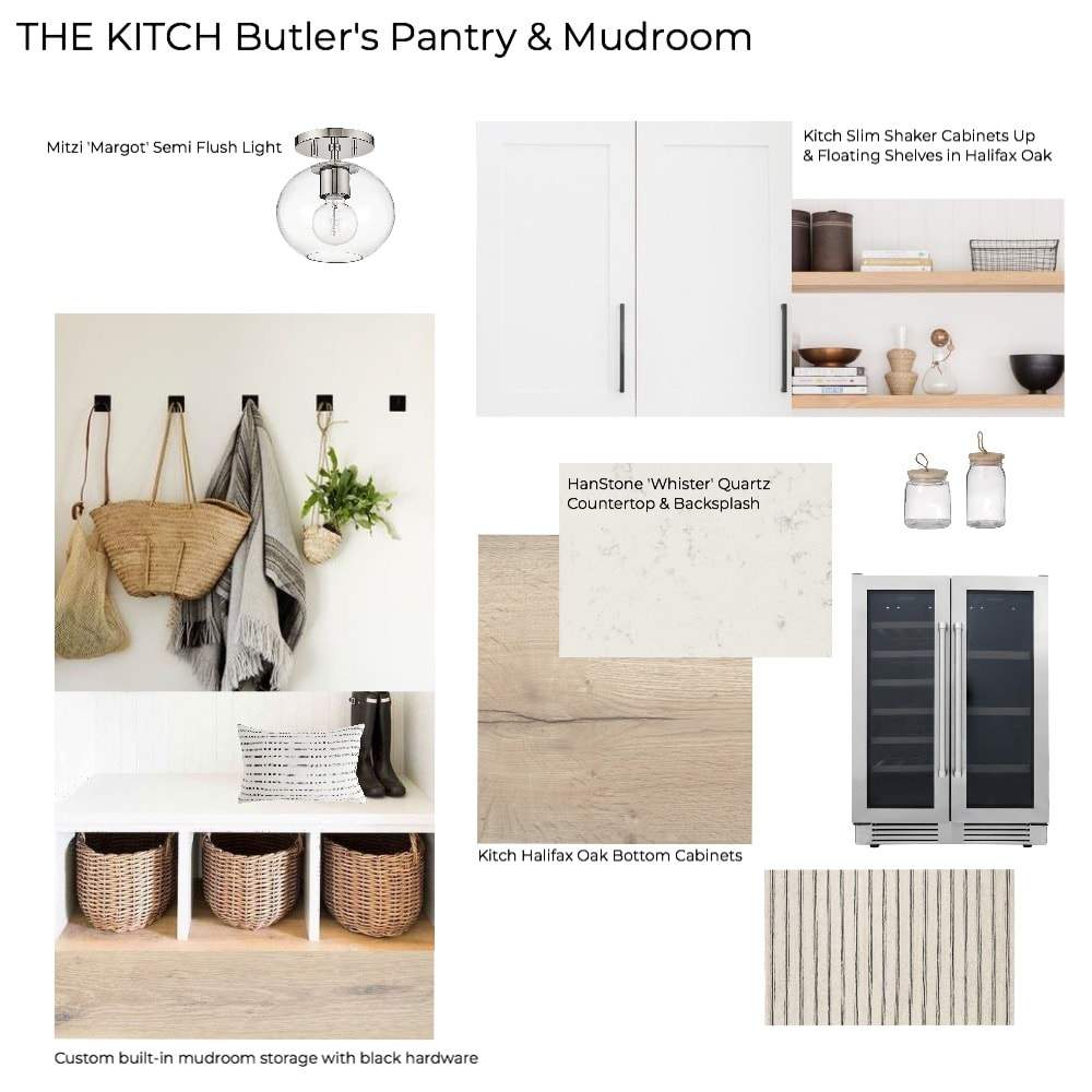 'The Kitch' Kitchen Remodel Pt 1: The Design - Earthy Scandinavian Mudroom & Butler's Pantry Mood Board