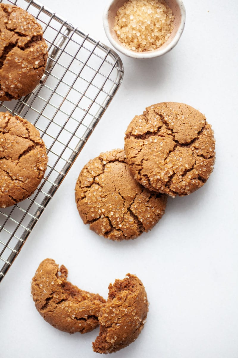 Healthier Chewy Ginger Molasses Cookies