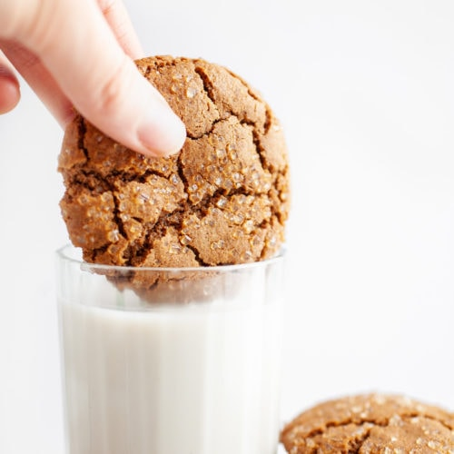 Healthier Old Fashioned Chewy Ginger Molasses Cookies Recipe