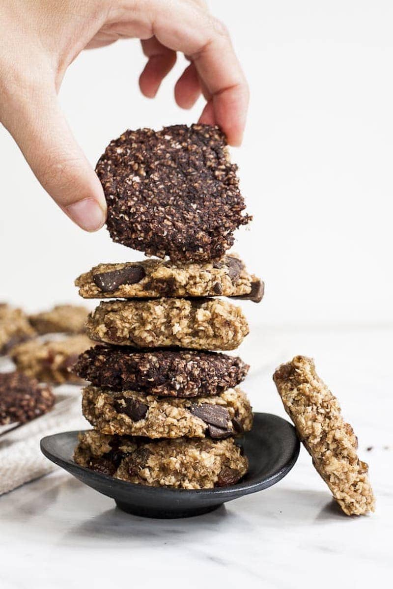 18 Easy Plant-Based Snacks To Try - Banana Peanut Butter Oatmeal Cookies