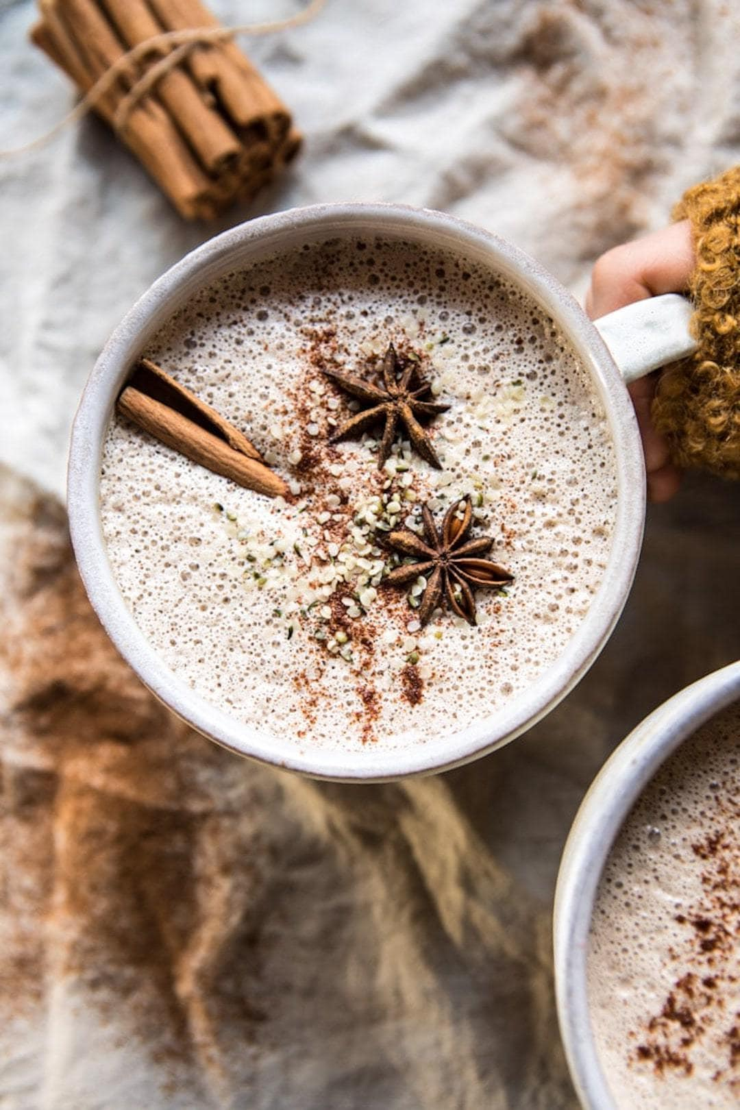 13+ Healthy Recipes with Hemp Hearts - Chai Cashew & Hemp Latte - Vegan