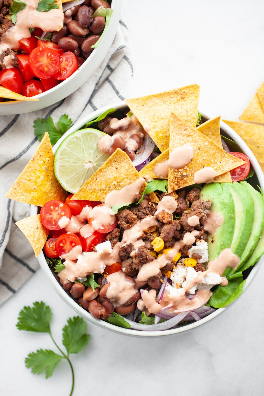 Healthy Taco Salad Recipe with easy salsa dressing