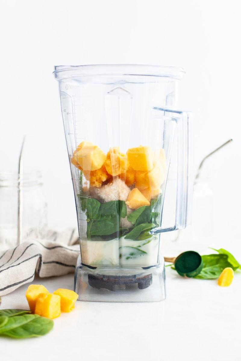 The Best Green Spirulina Smoothie in the Vitamix Blender