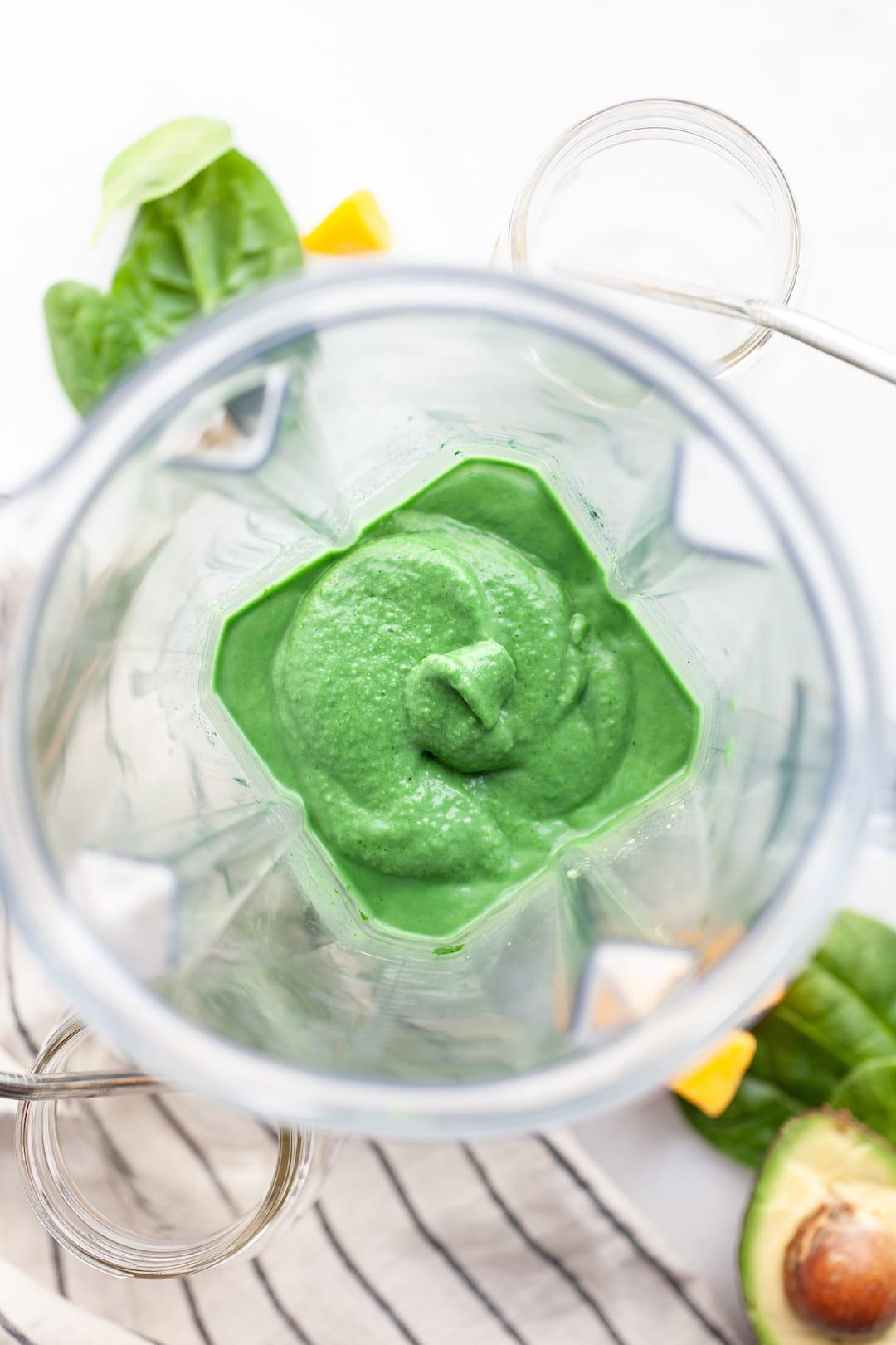 Blended Up The Best Green Spirulina Smoothie