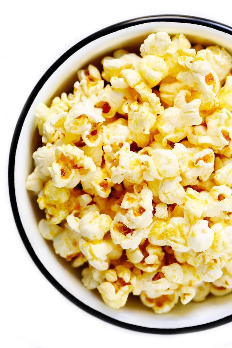 18 Easy Plant-Based Snacks To Try - Vegan No-Butter Popcorn