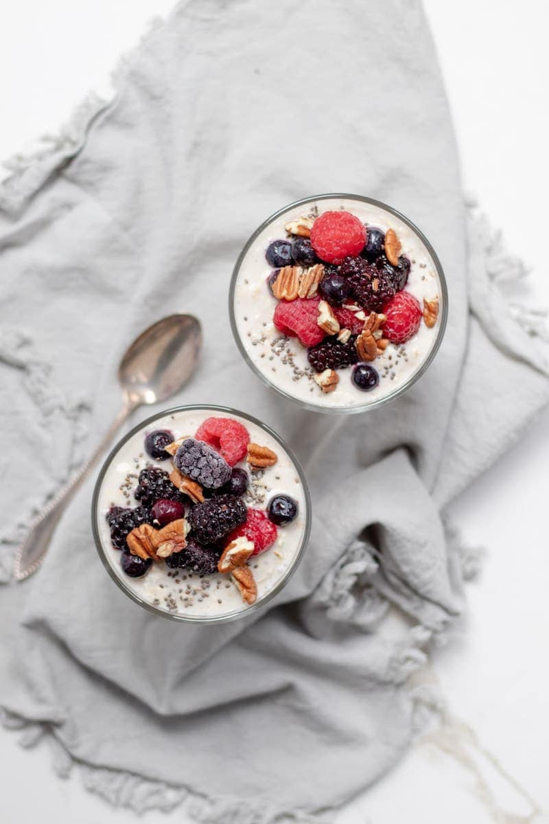 18 Easy Plant-Based Snacks To Try - Vegan Yogurt Oats