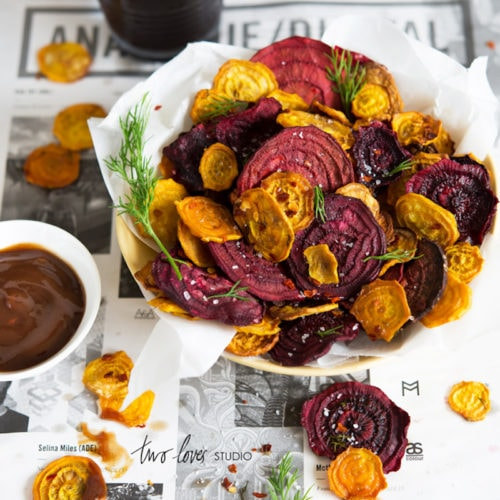 18 Easy Plant-Based Snacks To Try - Baked Beet Chips