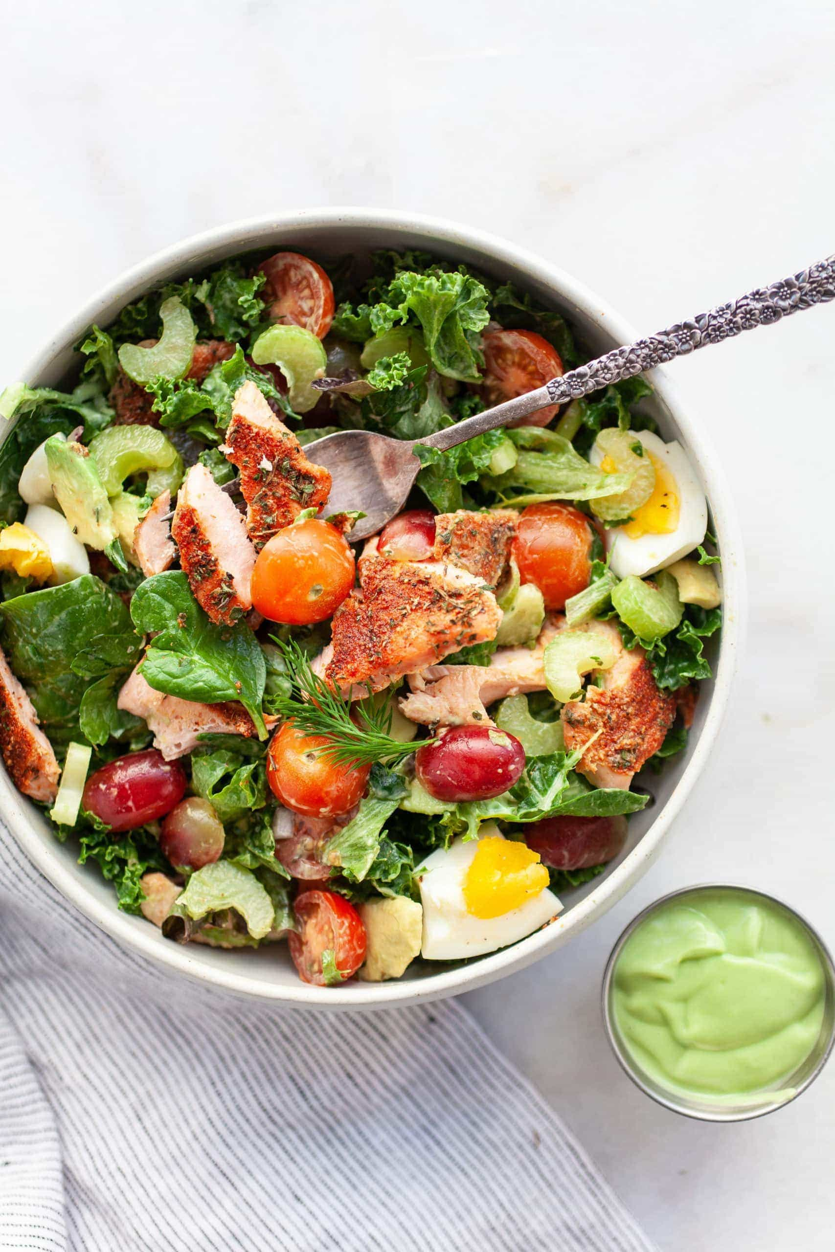 Delicious and Healthy Blackened Salmon Salad