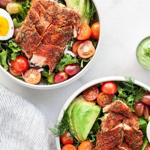 Delicious Healthy Blackened Salmon Salad