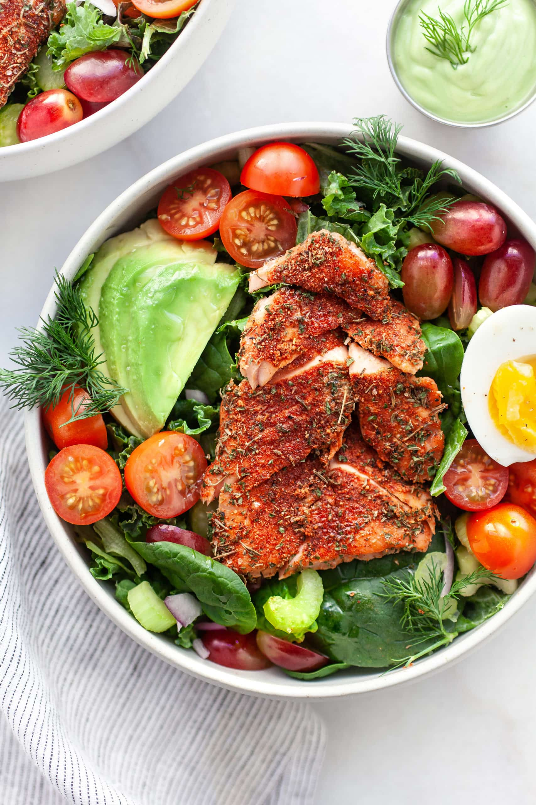 Simple Healthy Blackened Salmon Salad