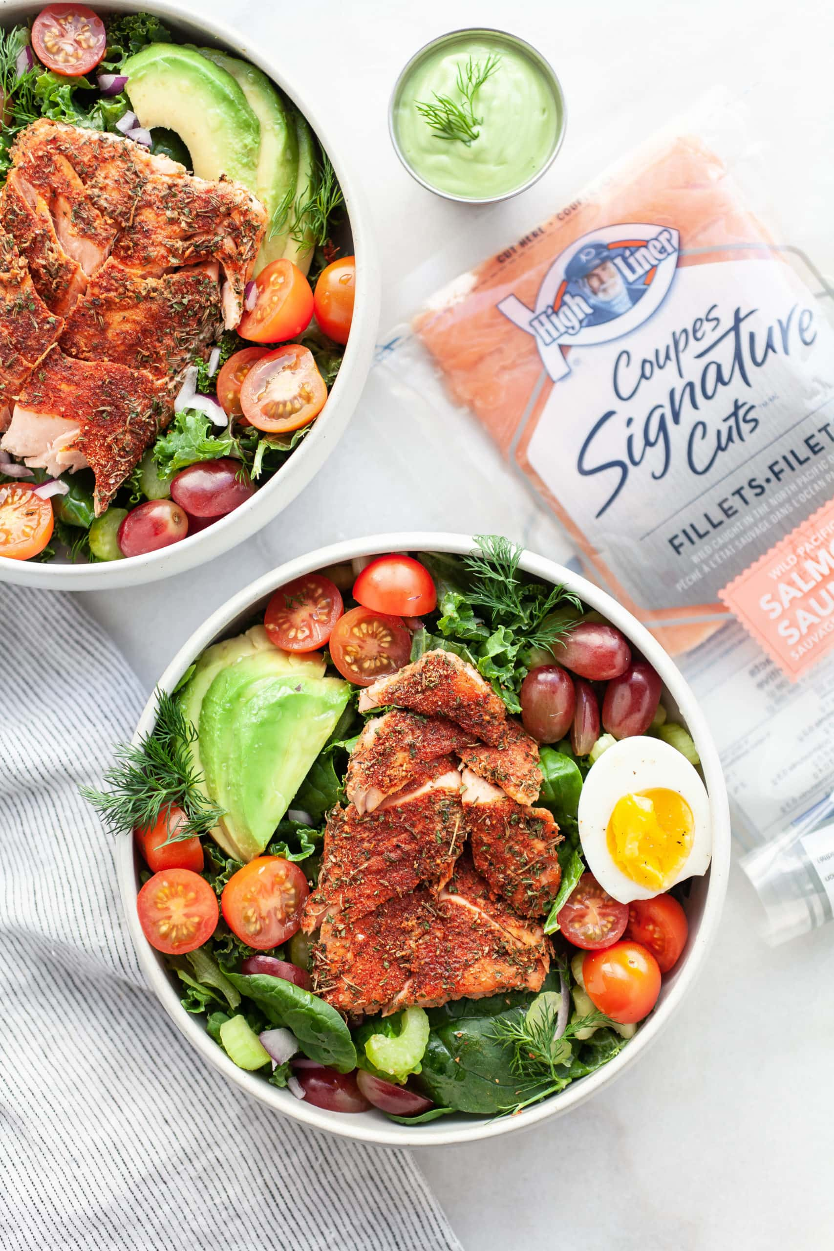 The Best Healthy Blackened Salmon Salad
