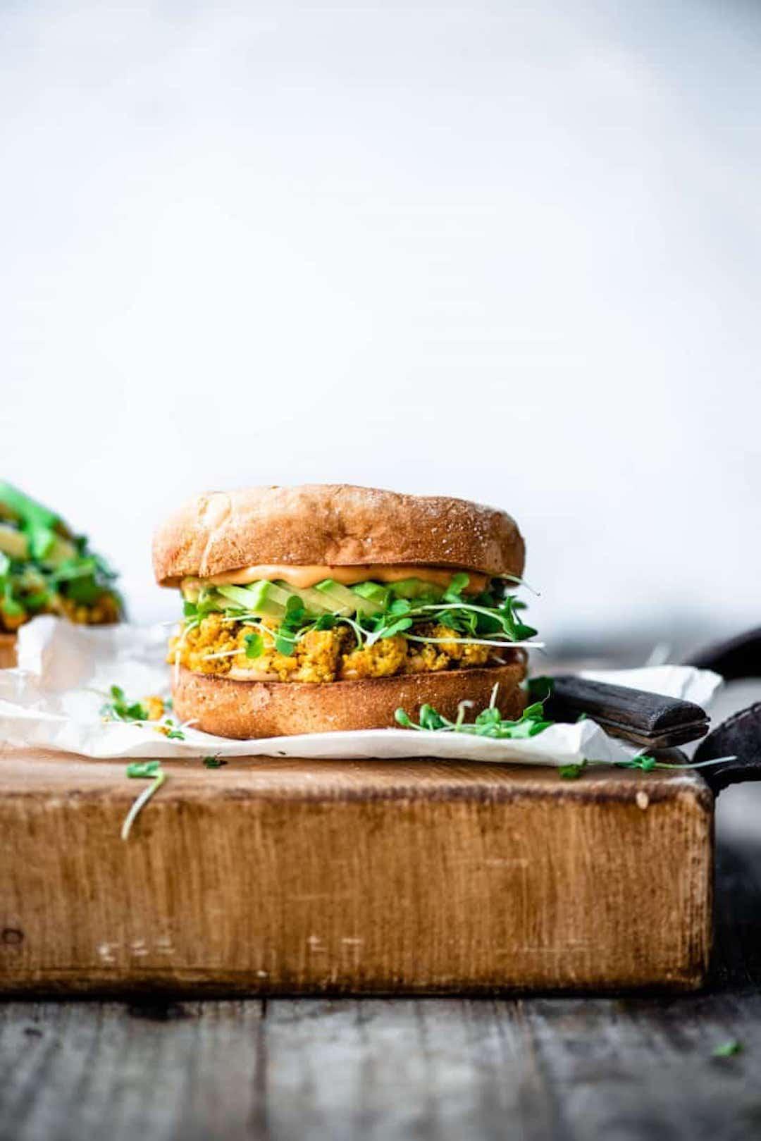 11 Yummy Plant Based Sandwiches - Gluten Free Breakfast Sandwich from Crowded Kitchen