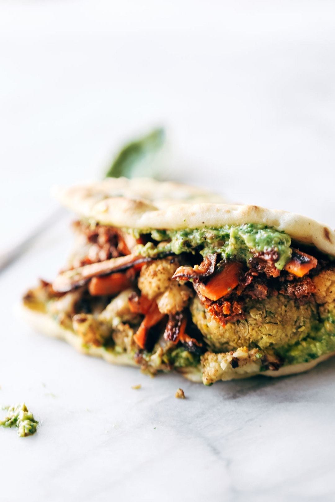 11 Yummy Plant Based Sandwiches - Falafel Naanwhich by Pinch of Yum