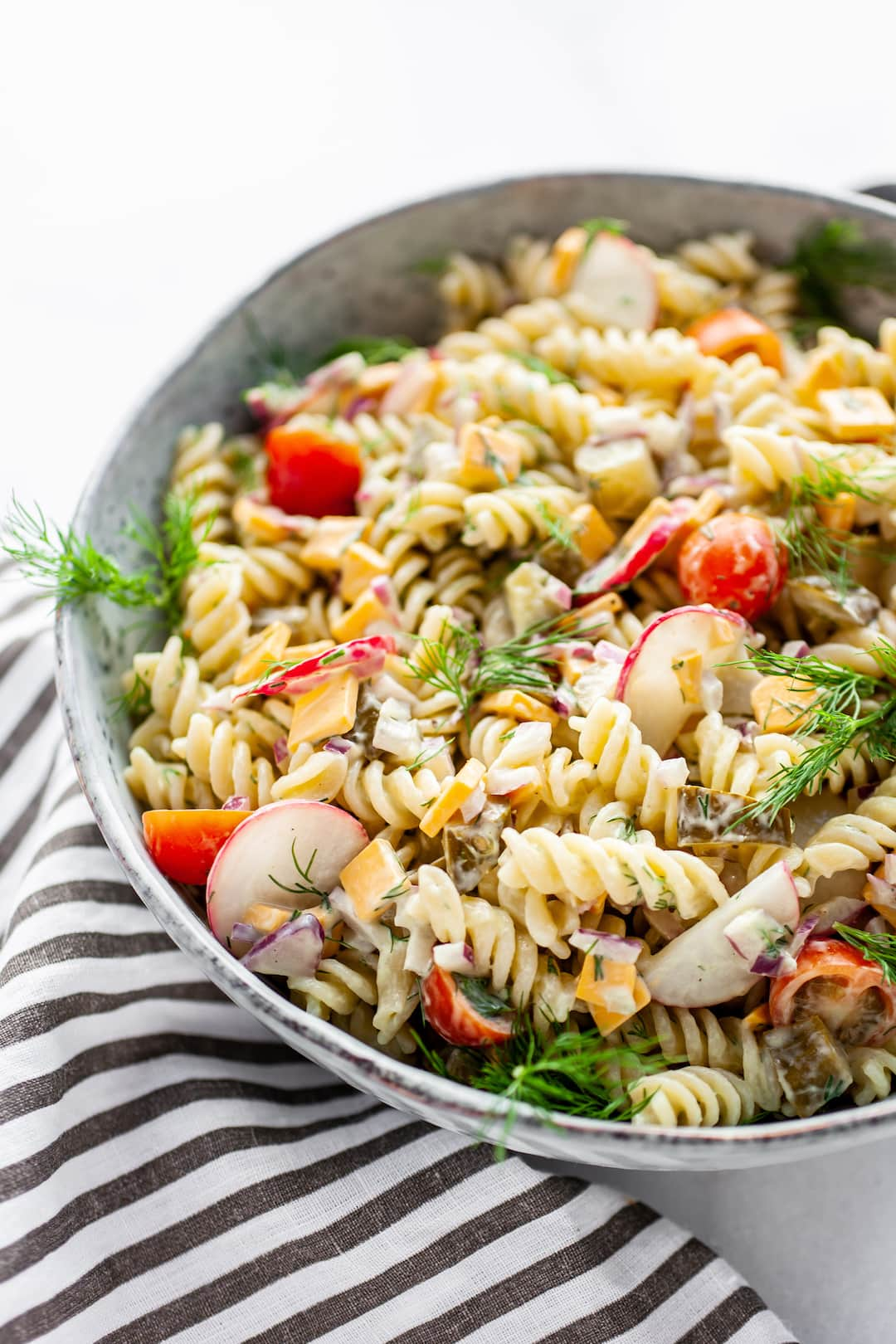 The Best Healthy Dill Pickle Pasta Salad