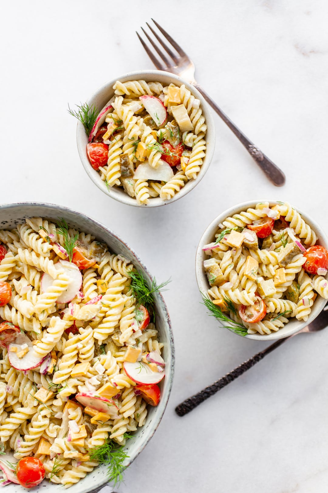 Perfect Healthy Dill Pickle Pasta Salad
