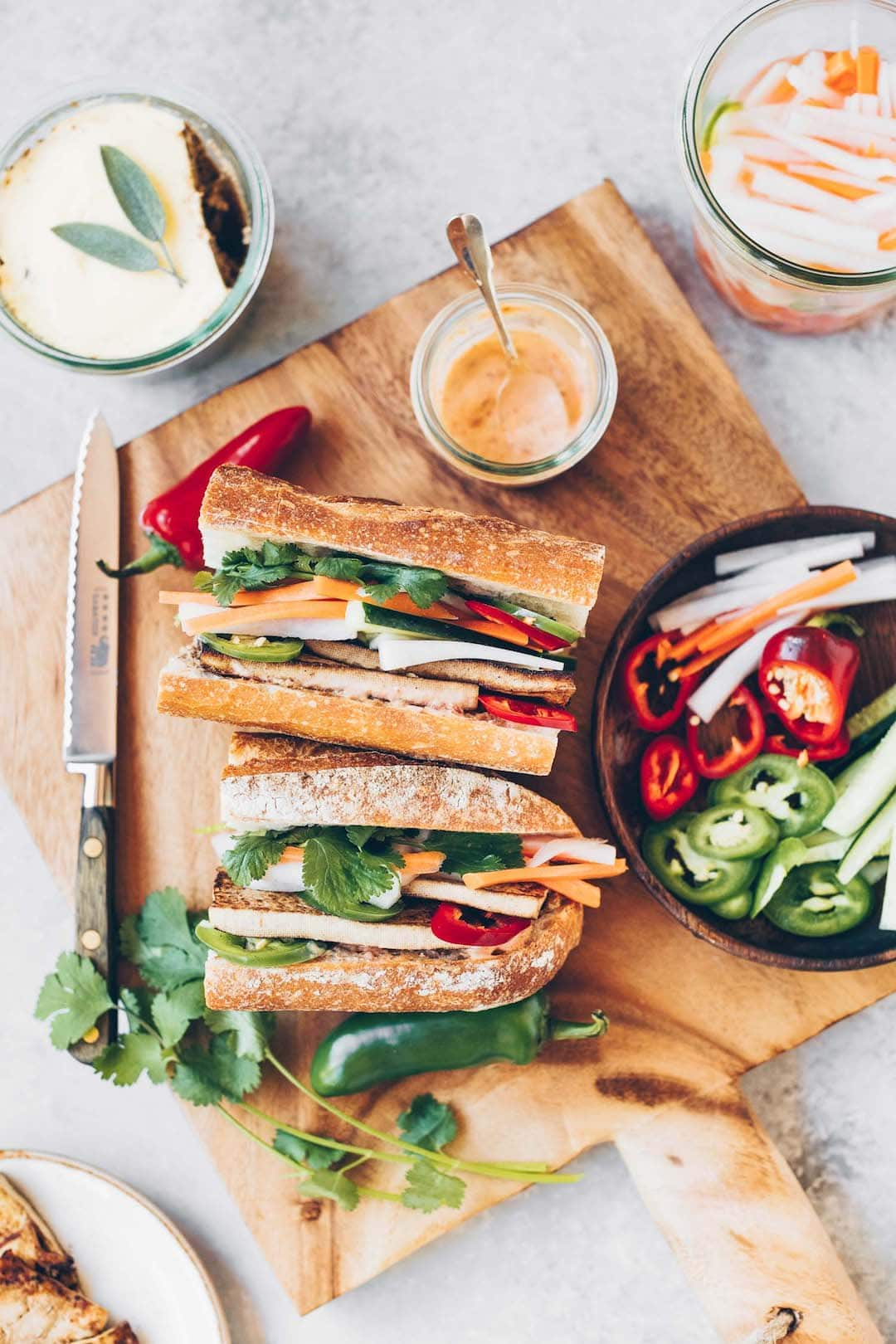 11 Yummy Plant Based Sandwiches - Vegan Banh Mi Sandwich
