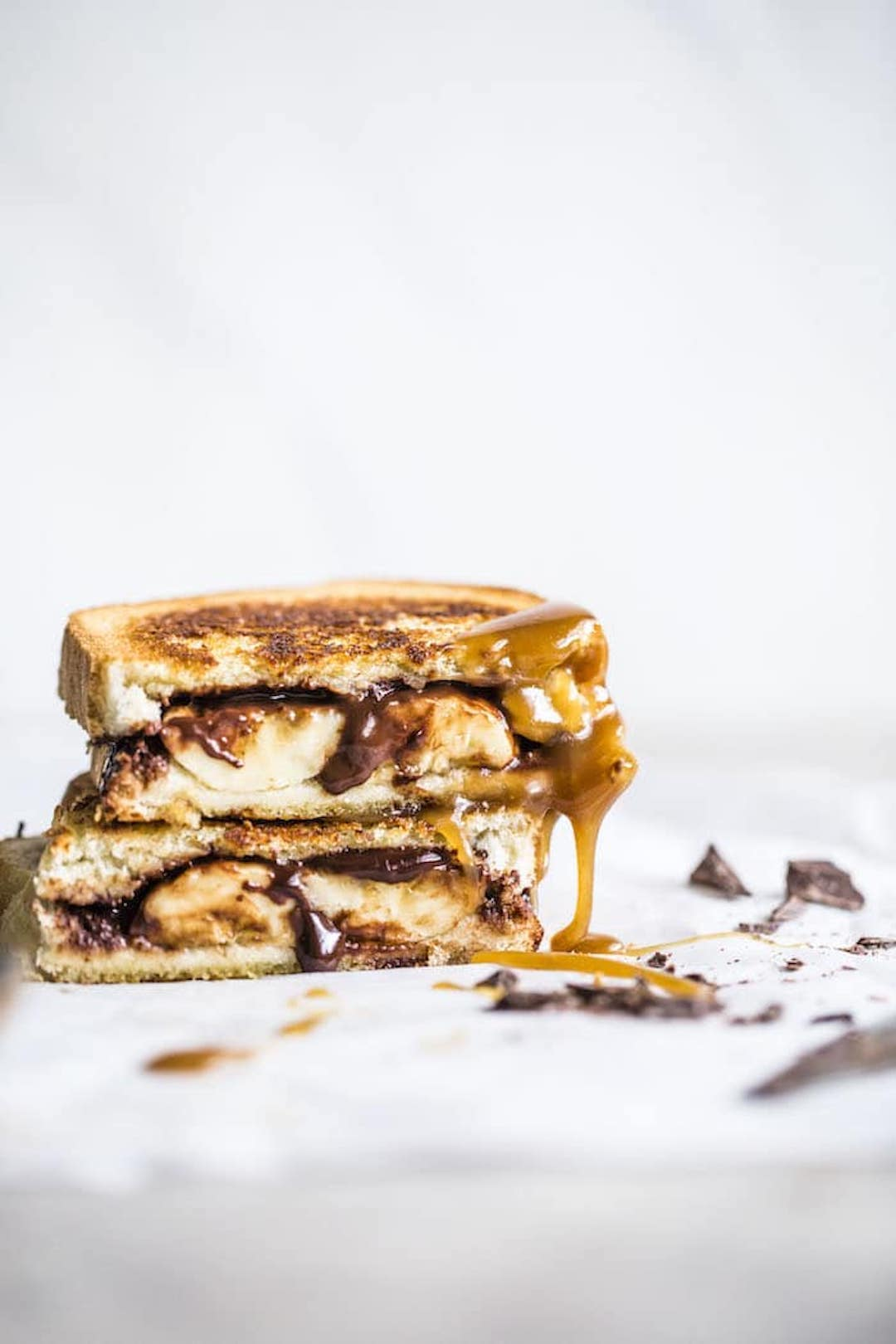 11 Yummy Plant Based Sandwiches - Vegan Chocolate Bananas Foster Sandwich from The Almond Eater