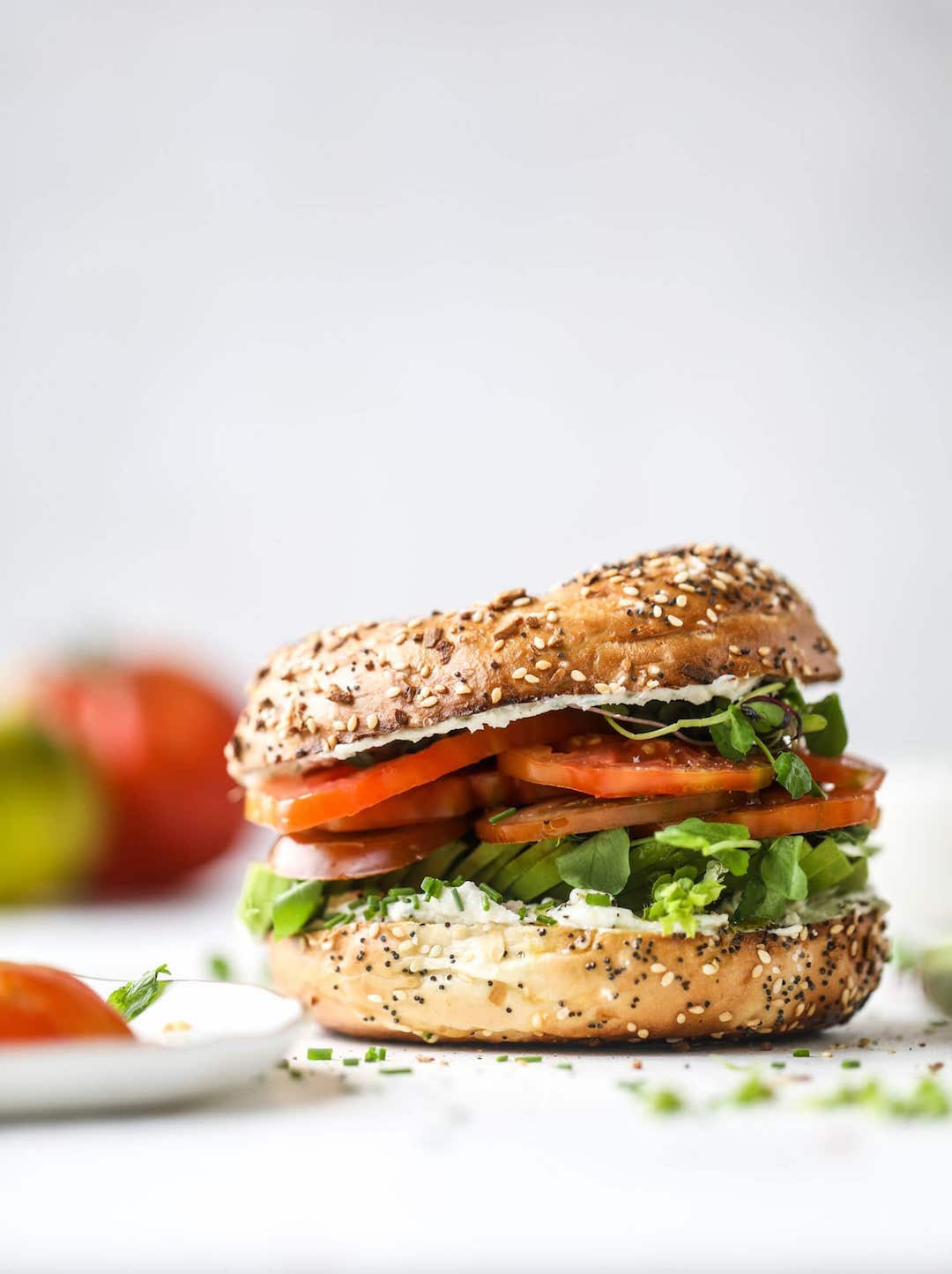 11 Yummy Plant Based Sandwiches - Bagelwhiches by How Sweet Eats