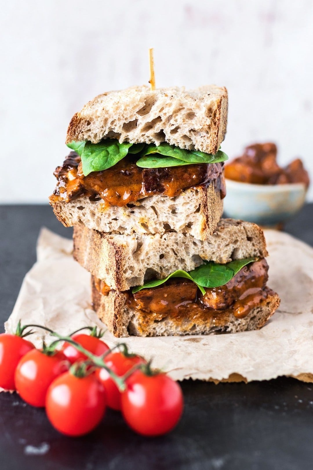 11 Yummy Plant Based Sandwiches - Vegan Buffalo Chicken Sandwich by This Vibrant World