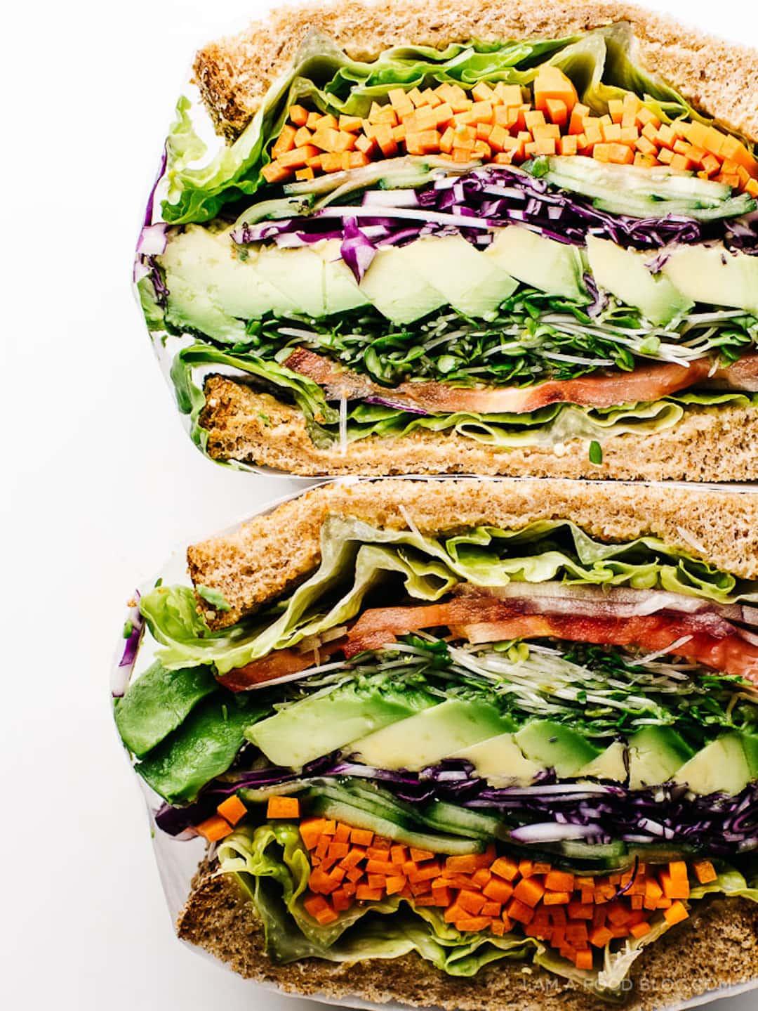 11 Yummy Plant Based Sandwiches - Ultimate Veggie Sandwich by I'm A Food Blog