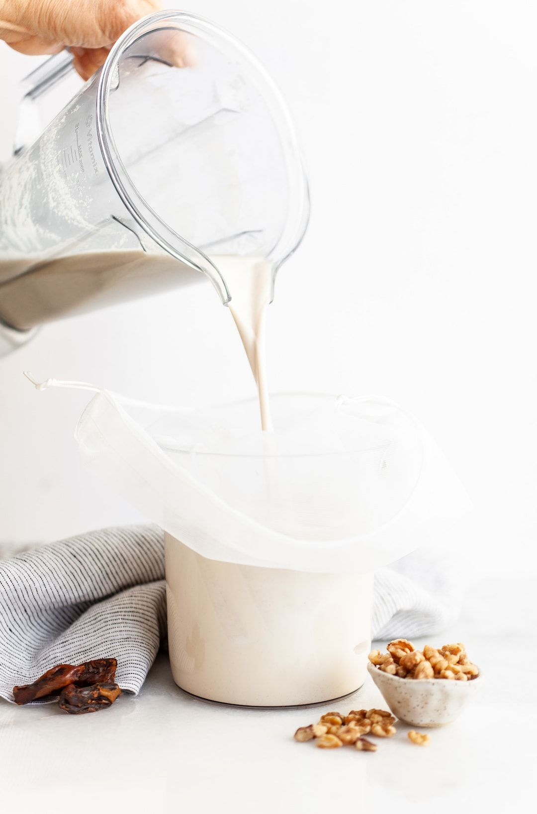 The Easiest Vitamix Walnut Milk (2 Ways!) - in a few simple steps!