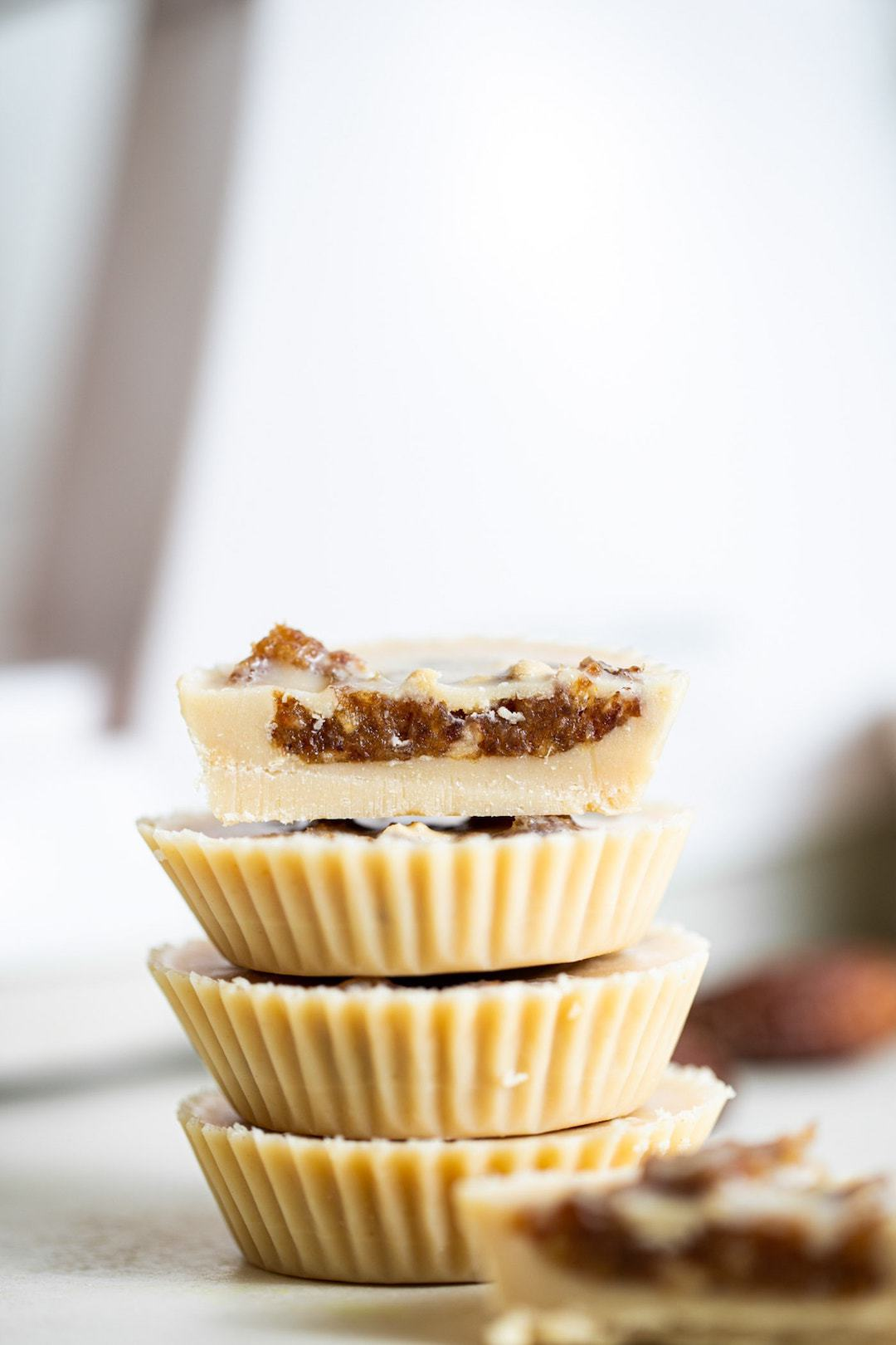 12 Super Easy Plant Based Desserts - Salted Tahini Caramel Cups
