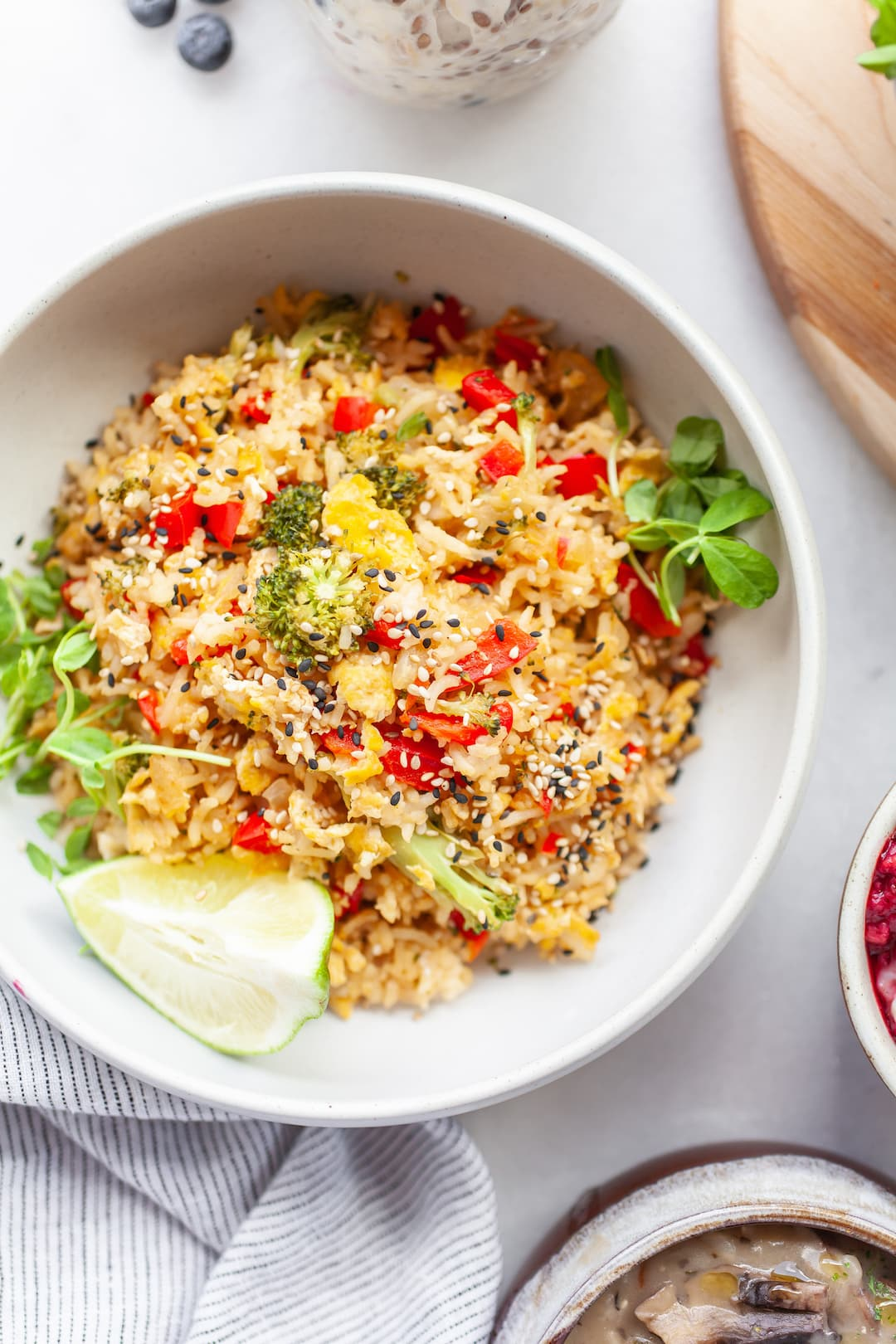 Easy Fried Rice (using rice leftovers)