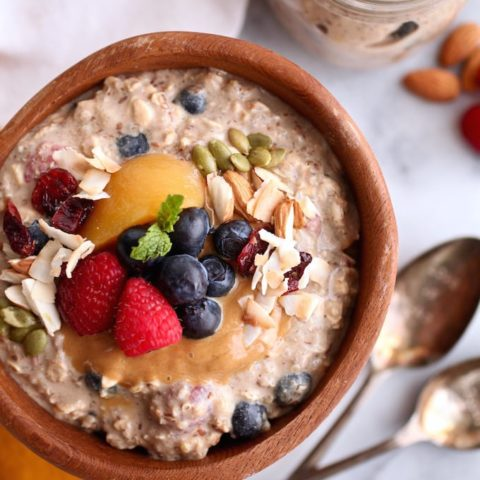 Fruit-Filled Protein Overnight Oats & Quinoa