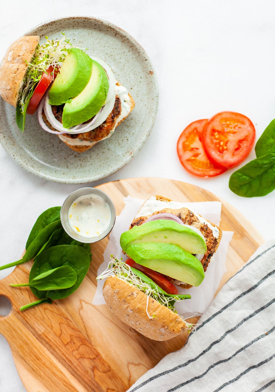 Easy Best Healthy Turkey Burger Recipe with Avocado - gluten free, dairy free