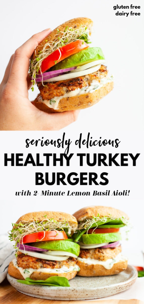 healthy turkey burger in hand