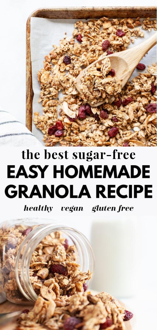 Easy Sugar Free Granola Recipe Nutrition In The Kitch