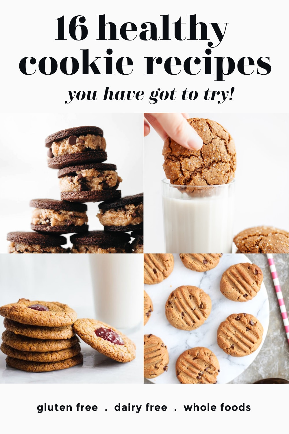 collage of healthy cookies photography