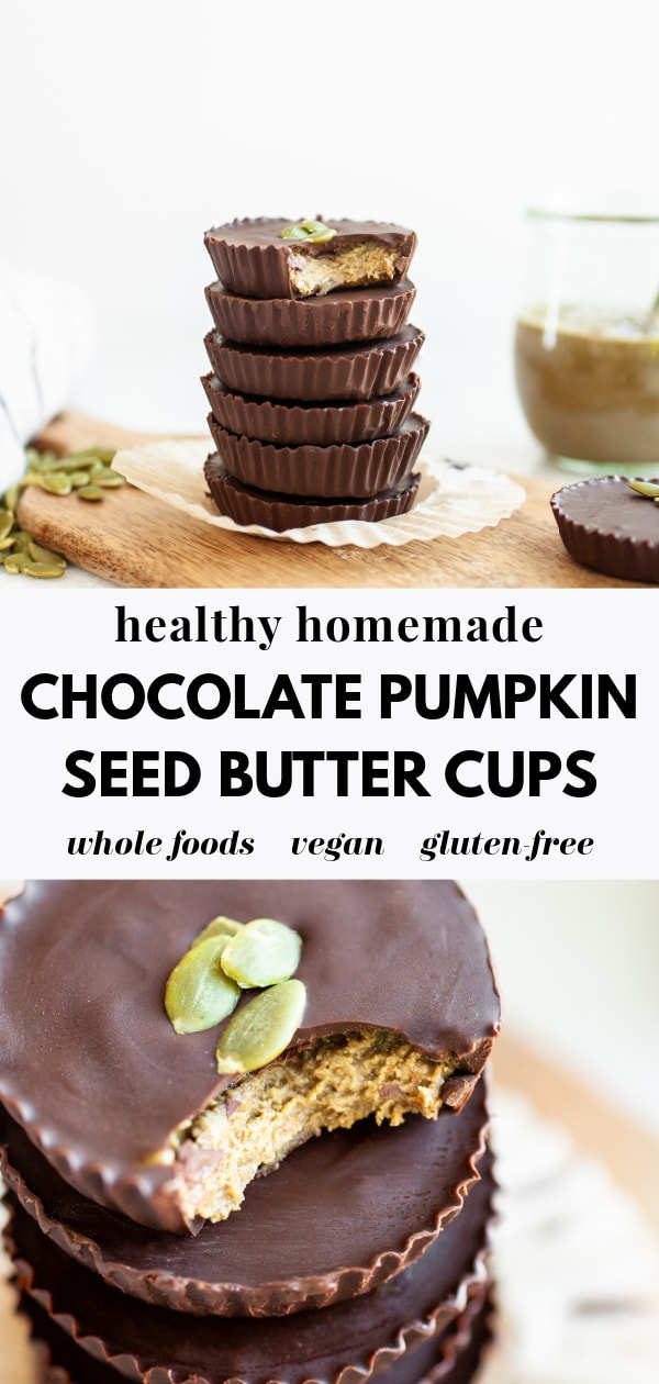 Chocolate Pumpkin Seed Butter Cups