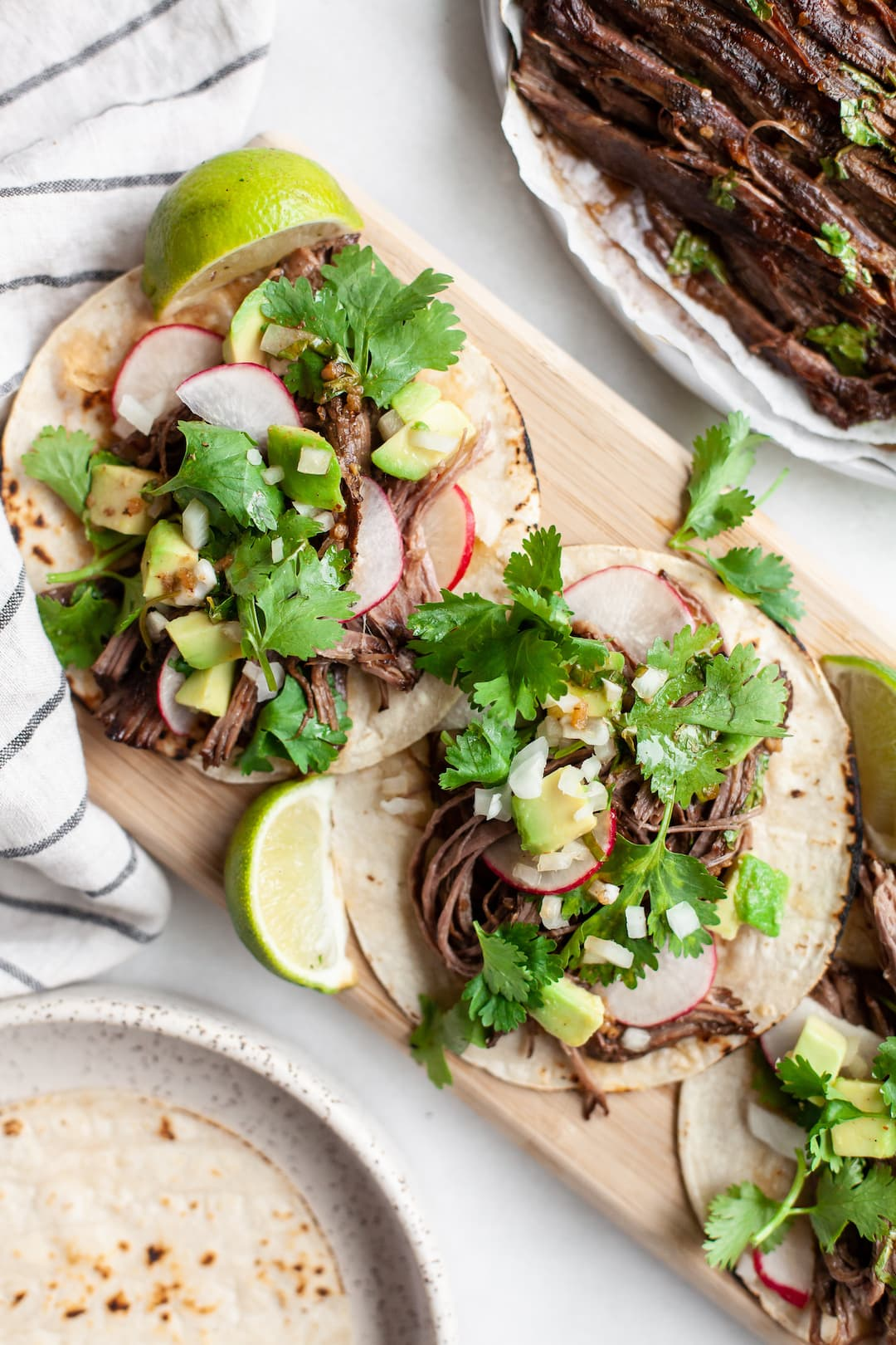 Carne Asada Tacos with cilantro