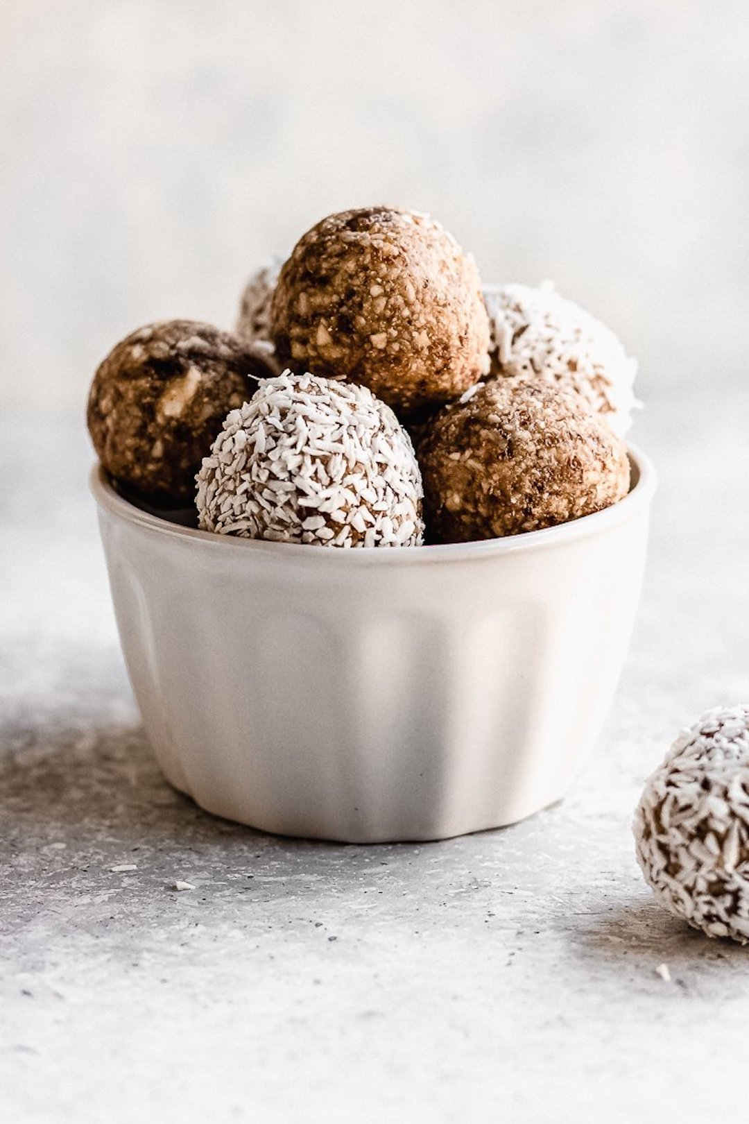 small bowl of lemon protein balls