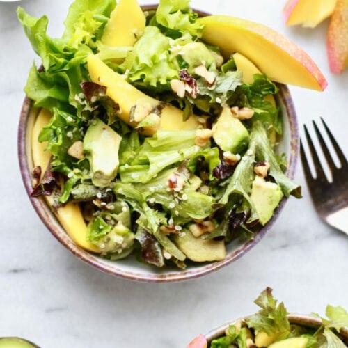 Mango Avocado Walnut Salad