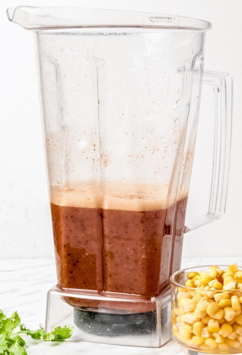 Easy Blender Vitamix Tortilla Soup in a Vitamix blender