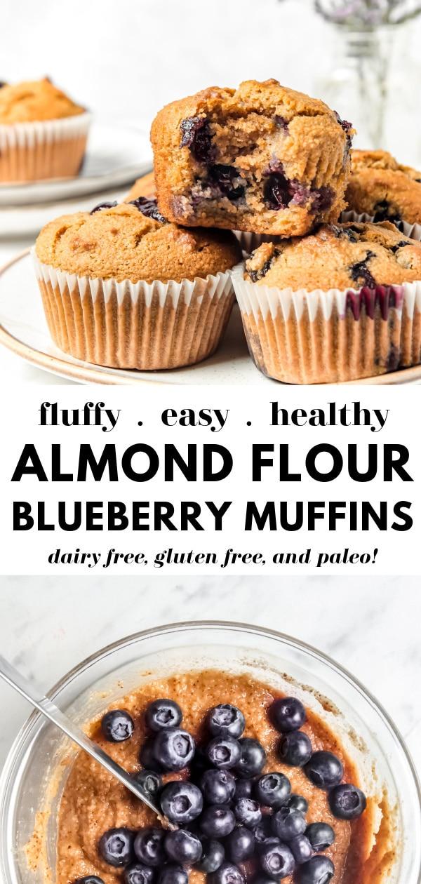Fluffy Almond Flour Blueberry Muffins