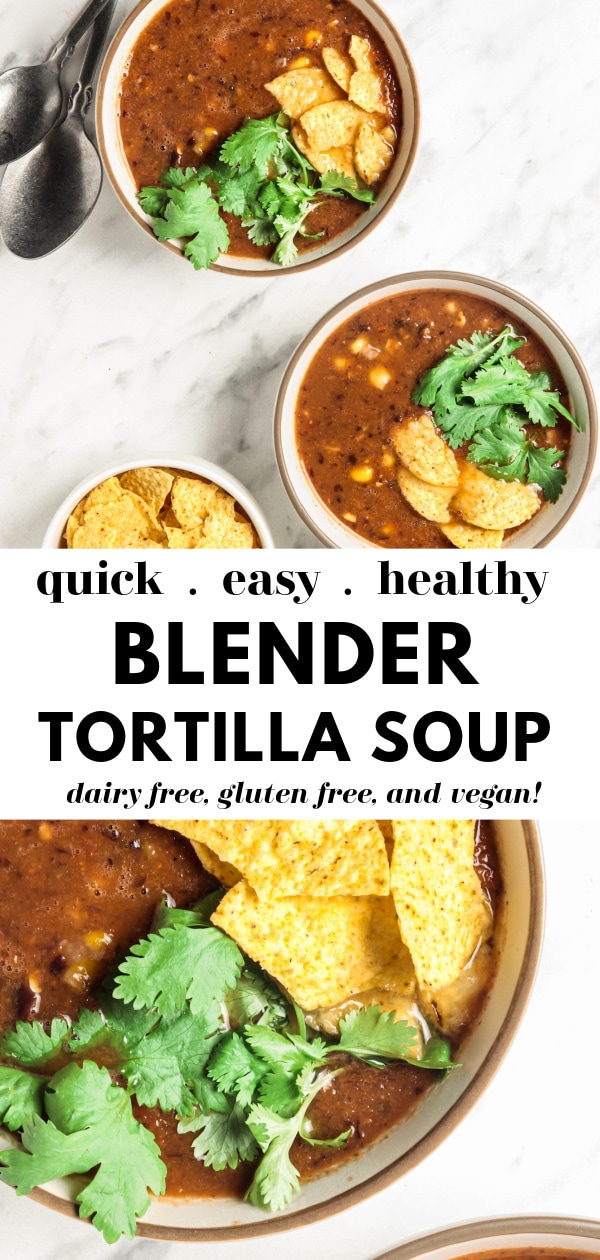 Easy Blender Vitamix Tortilla Soup photo collage