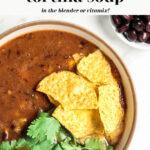 Easy Blender Vitamix Tortilla Soup pin for Pinterest
