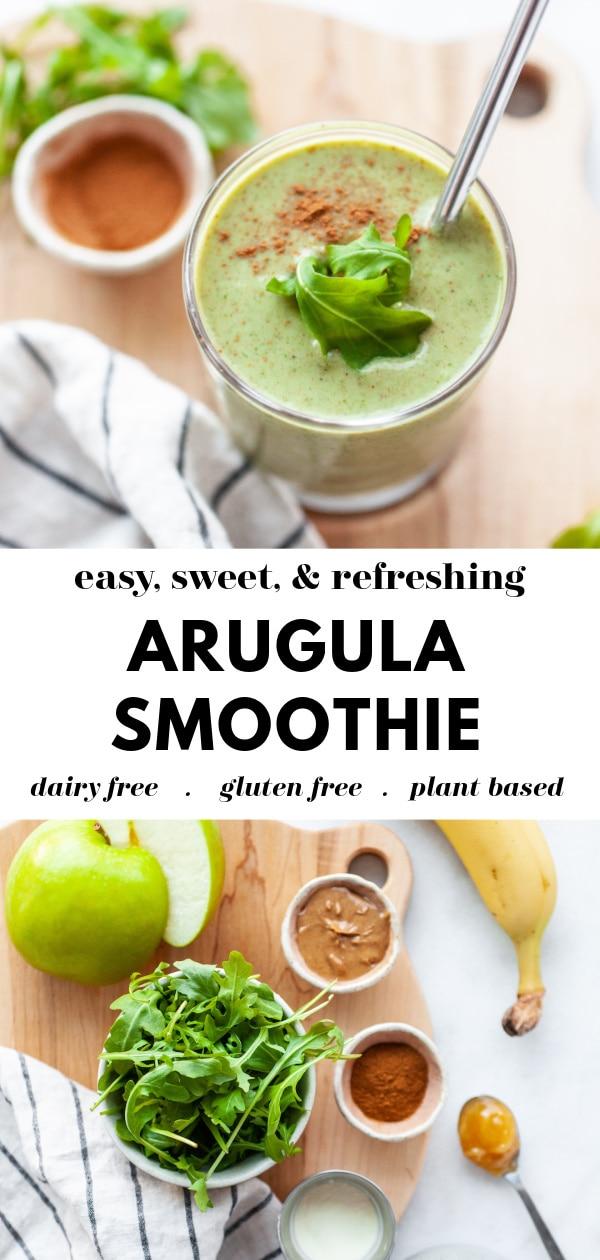 Delicious Arugula Smoothie Recipe Pin 1