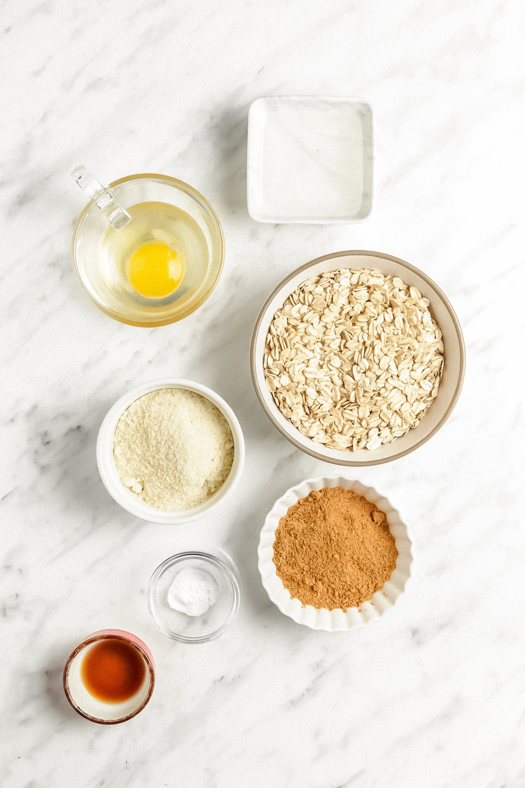 Ingredients for Soft Healthy Almond Flour Oatmeal Cookies